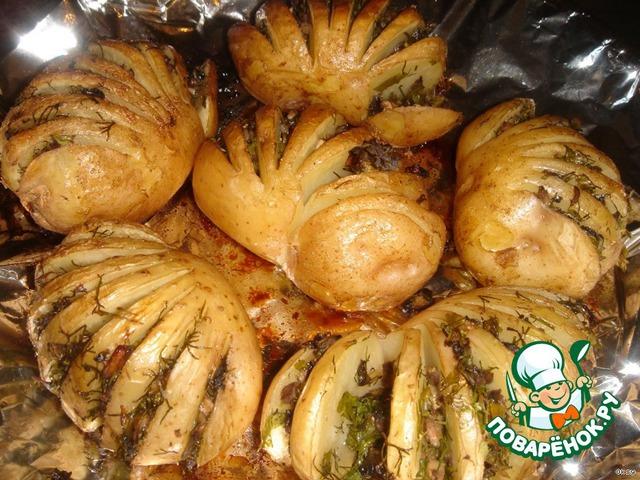 Картошка-гармошка готова, можно подавать.       Приятного аппетита!