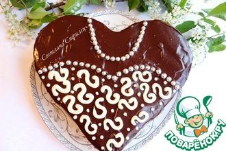 """Шоколадно-кокосовый пирог """"Нарядный"""""""
