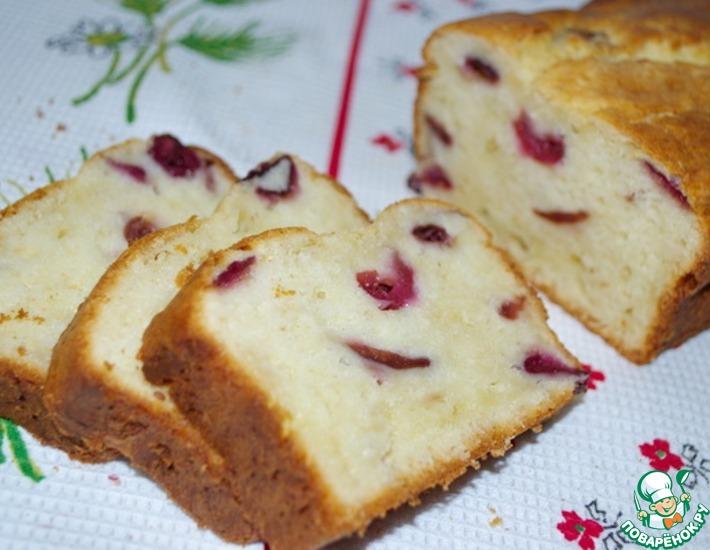 Творожный кекс с вишней или черешней