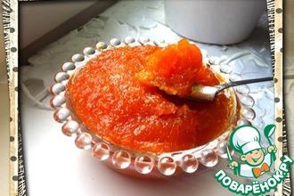 Морковно-цитрусовый мармелад быстрого приготовления