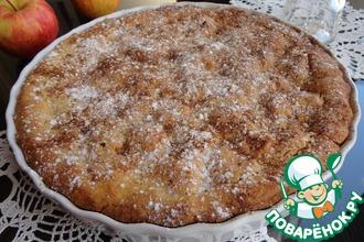 Яблочно-клюквенный пирог из кукурузной муки