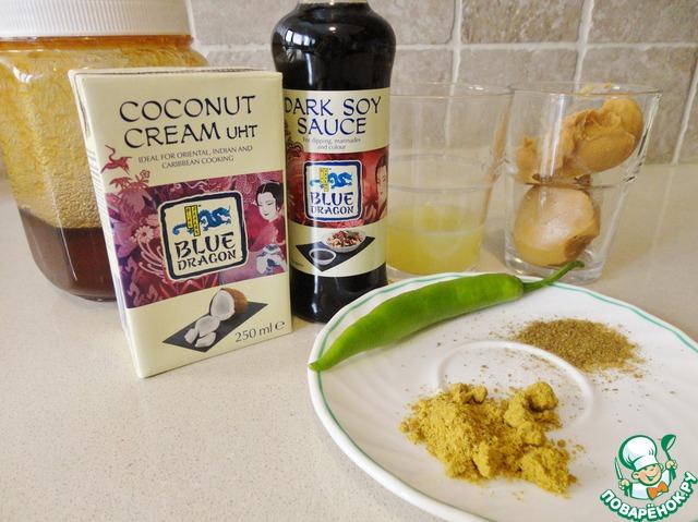 Это наши ингредиенты. Я использую продукцию фирмы Blue Dragon.