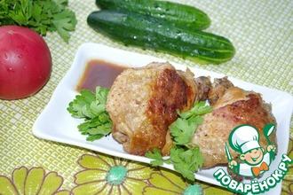 """Курица """"Adobo"""" (дважды приготовленная)"""