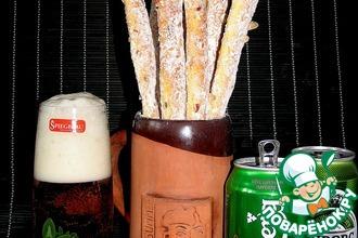 Чесночно-сырные палочки к пиву