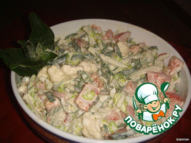 Хороший салатик получился! Вкусный! Свежайший и хрустящий! Угощайтесь!!! :-*