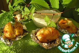 Запеченный картофель с творогом