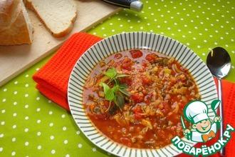 Суп из красной чечевицы с карри