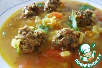 Суп с ароматными фрикадельками