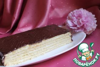 Торт шоколадно-песочный