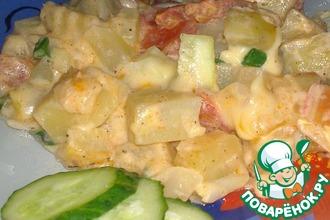 Быстрая картошка с кабачком