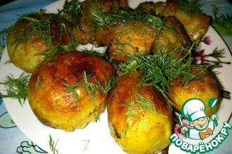 Жареный молодой картофель со свининой