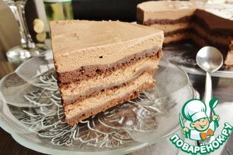Торт с шоколадом и тахини