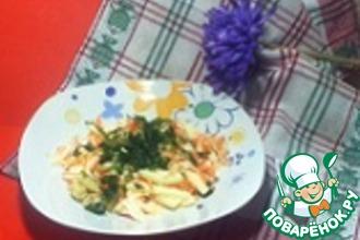 Салат из капусты с яблоками, морковью и изюмом