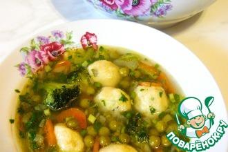 Суп с картофельными клецками и щавелем