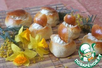 Масленичные эстонские булочки со сливками