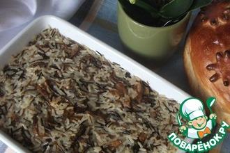 Запеканка из риса с сушёными грибами