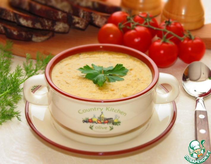 Турецкий суп из чечевицы с грибами