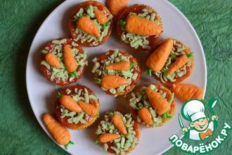 Кексы из озимой весенней моркови