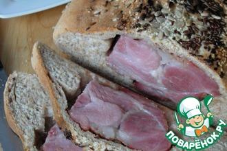 Мясо запечённое в хлебе