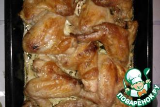 Крылышки в чесночном-сливочном соусе