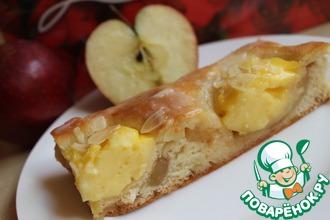 Яблочные полоски с пудингом