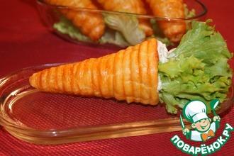"""Закусочное пирожное """"Морковка"""" с кремом аля дзадзики (цацики)"""