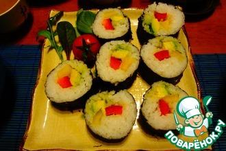 Японские роллы с овощами
