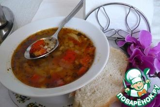 """Суп """"Овощной букет с рисом"""""""