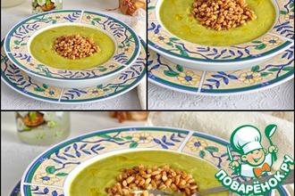 Цуккинево-яблочный суп-пюре с перловкой