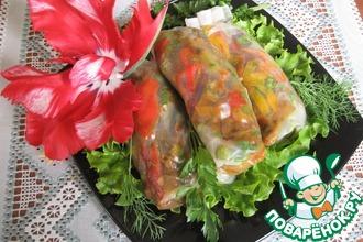 Спринг роллы с овощами карри