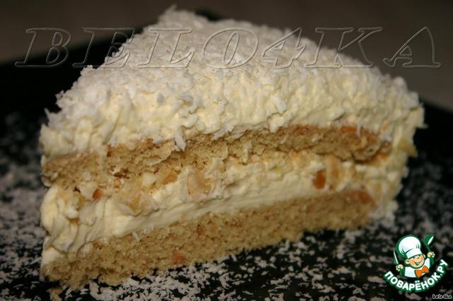 """Нарезаем и угощаем дорогих гостей!   По вкусу - точь-в-точь конфетки """"Рафаэлло"""". Суперский торт, без преувеличения!"""