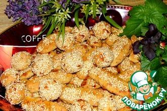 Овсяное печенье с рикоттой и сыром к пиву