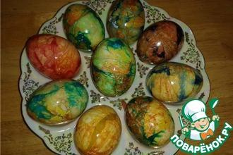 """Пасхальные яйца """"Мраморные"""""""
