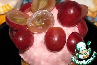 Мини-чизкейк с виноградом