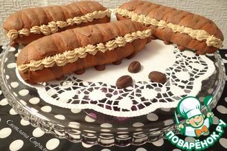 Шоколадные булочки с кофейно-ореховым кремом