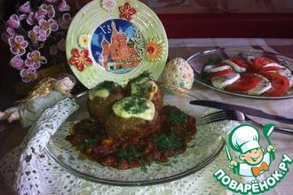 Пасхальные мясные куличи в томатном соусе