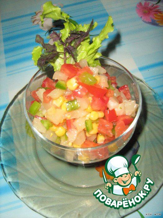 Салатик выкладываем в салатницу.   Приятного аппетита!