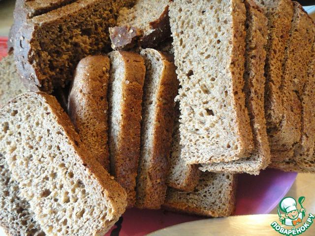 Хлеб режем кусочками, как на бутерброды.