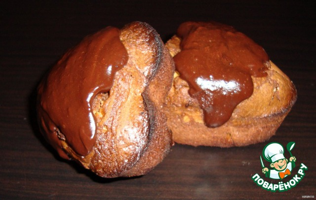 Готовые Можно полить растопленным с маслом шоколадом