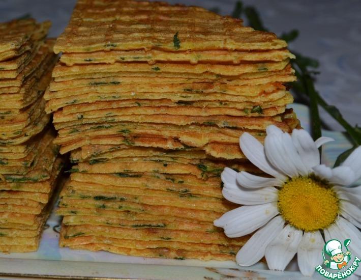 Луковые вафли с сыром