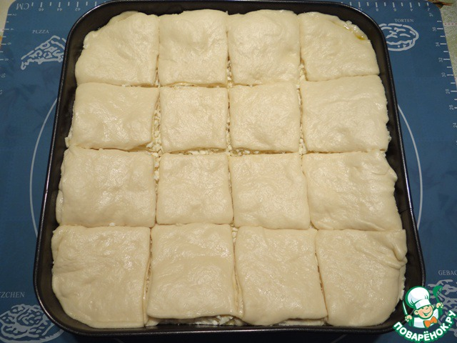 Чтобы пирог увеличился в объеме примерно в два раза.