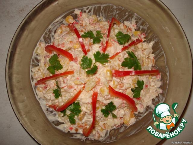 Перемешиваем, солим, заправляем майонезом.    [b][color=blue]Совет:[/color][/b]в этом салате можно картофель заменить вареными яйцами, вкус будет нежнее.        [b][color=red]Приятного аппетита!!![/color][/b]