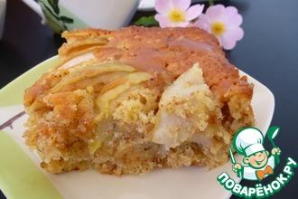 Яблочный кекс с миндалем