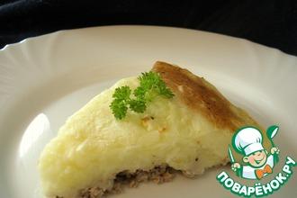 Французкая запеканка с картофелем и мясом