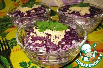 Салат с мясом и краснокочанной капустой