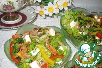 Кисло-сладкий овощной салат с черносливом