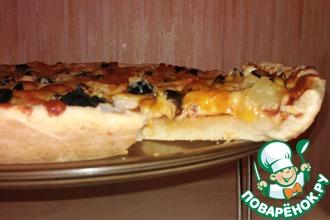 Десертная пицца с крабовыми палочками