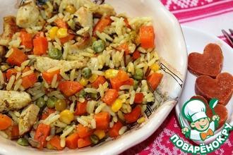 Рис с индейкой и морковью