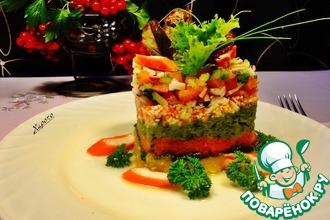Тартар из овощей с крабовыми палочками