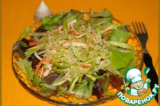 Салат из крабовых палочек с редькой